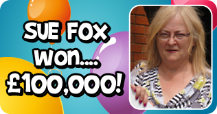 Sue Fox wins £100,000 with Costa Bingo
